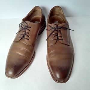 Joseph Abboud two tone brown leather oxford shoes